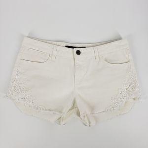 Harper Embroidered Denim Jean Short - Size 29